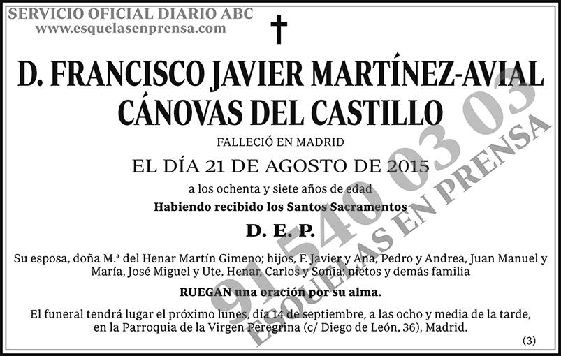 Francisco Javier Martínez-Avial Cánovas del Castillo